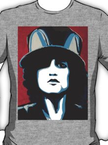 Marc Bolan ain't no square with his corkscrew hair T-Shirt