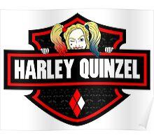 Harley Quinzel Biker Style (Red) Poster