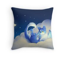 MIka: Coffee in the Clouds Throw Pillow