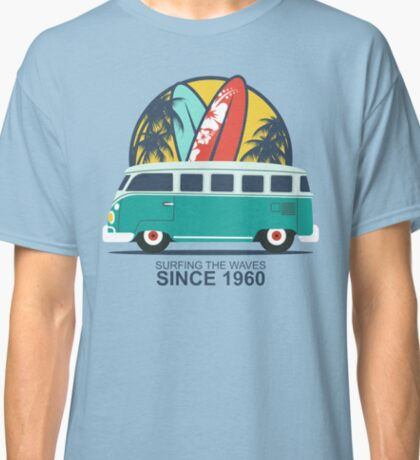 Surfing The Waves 1960 Classic T-Shirt