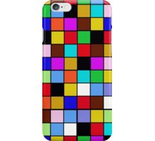 Checkerboard Color Blocks Abstract Pattern iPhone Case/Skin
