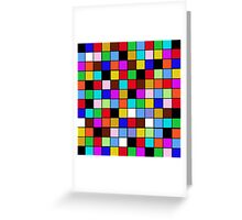 Checkerboard Color Blocks Abstract Pattern Greeting Card