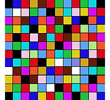 Checkerboard Color Blocks Abstract Pattern Photographic Print