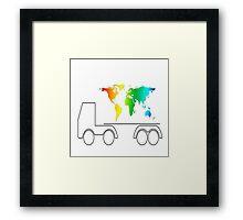 truck of the world Framed Print
