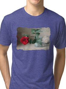 A Rose ~ In the Light of Early Morn Tri-blend T-Shirt