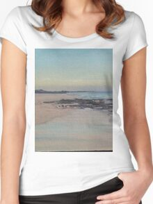 Ocean View # 203 Women's Fitted Scoop T-Shirt