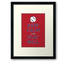 Keep Calm and Play Ball - Washington Framed Print