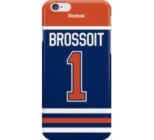 Edmonton Oilers Laurent Brossoit Jersey Back Phone Case iPhone Case/Skin