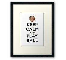 Keep Calm and Play Ball - San Diego Framed Print