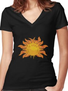 Le Soleil Women's Fitted V-Neck T-Shirt