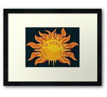 Le Soleil Framed Print