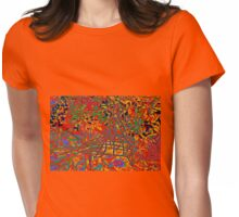 WIRE BIRD IN THE FLOWERS Womens Fitted T-Shirt
