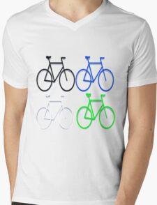 4 bicycles Mens V-Neck T-Shirt