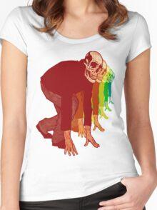 Racing Rainbow Skeletons Women's Fitted Scoop T-Shirt