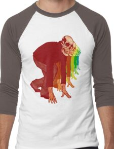Racing Rainbow Skeletons Men's Baseball ¾ T-Shirt