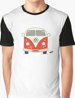 Volkswagen retro car, peace and love Graphic T-Shirt
