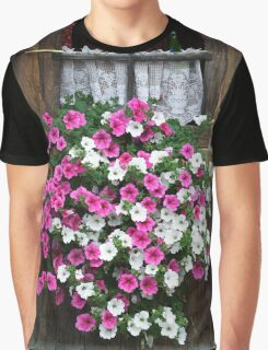 Pink And White Petunias Graphic T-Shirt
