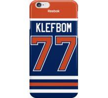 Edmonton Oilers Oscar Klefbom Jersey Back Phone Case iPhone Case/Skin