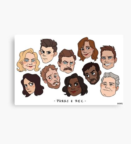 parks and rec Canvas Print