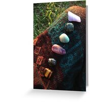 Chakra Stones for Good Vibes Greeting Card
