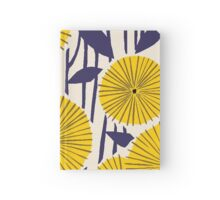 Round yellow floral pattern Hardcover Journal