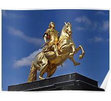 Goldener Reiter in Dresden Poster