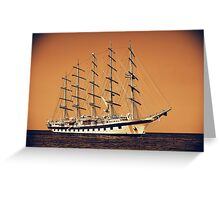 Old Ship Greeting Card
