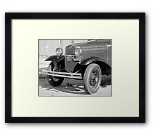 1931 Model A Ford- Front side view  b&w Framed Print