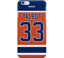 Edmonton Oilers Cam Talbot Alternate Jersey Back Phone Case iPhone Case/Skin