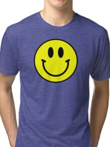 the smiley face Tri-blend T-Shirt