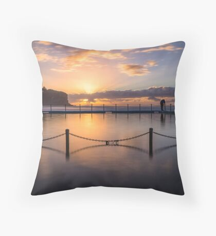 Bilgola Beach Sunrise Throw Pillow