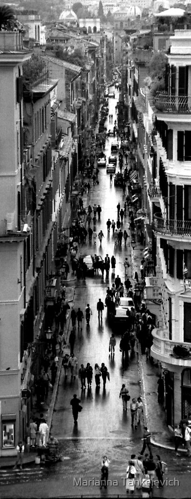 Rome, View from Spanish Steps by Marianna Tankelevich