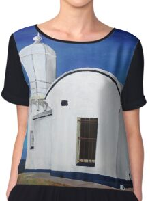 Tacking Point Lighthouse Chiffon Top