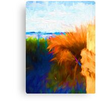 Beach View from the Right of the Path Canvas Print