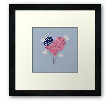 Balloons USA Framed Print