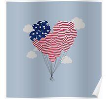 Balloons USA Poster