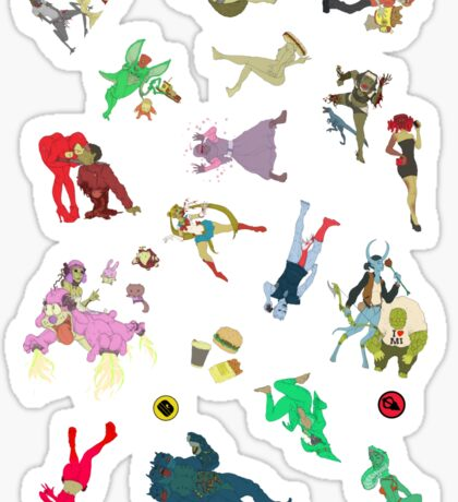 coochie s1 stickers LARGE AND EXTRA LARGE ONLY Sticker