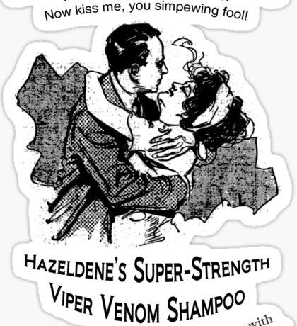 Hazeldene's Super-Strength Viper Venom Shampoo Sticker
