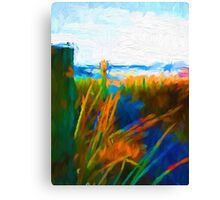 Beach View from the Left of the Path Canvas Print
