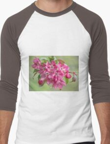 Crabapple Blossoms Men's Baseball ¾ T-Shirt