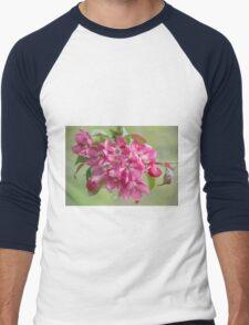 Crabapple Blossoms Men's Baseball ¾ T-Shirt