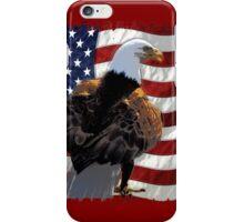 Bald Eagle and US Flag iPhone Case/Skin