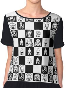 Lord of the chess Chiffon Top