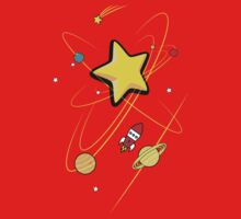 Star, planets and a red rocket Baby Tee