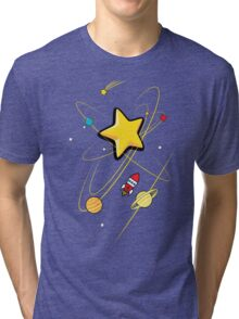 Star, planets and a red rocket Tri-blend T-Shirt