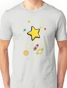 Star, planets and a red rocket Unisex T-Shirt