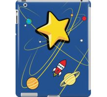 Star, planets and a red rocket iPad Case/Skin