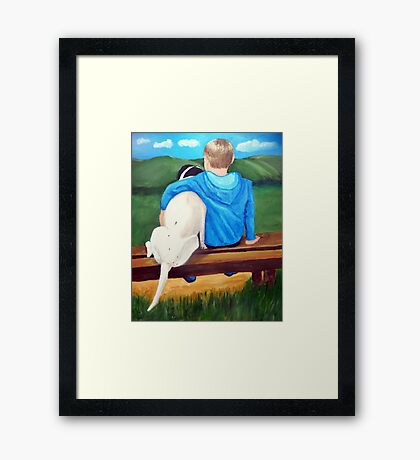 A Boys Best Friend Framed Print