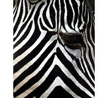Zebra Eye African Wildlife Photographic Print