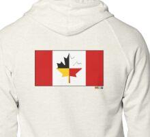 Canada on Native land Zipped Hoodie